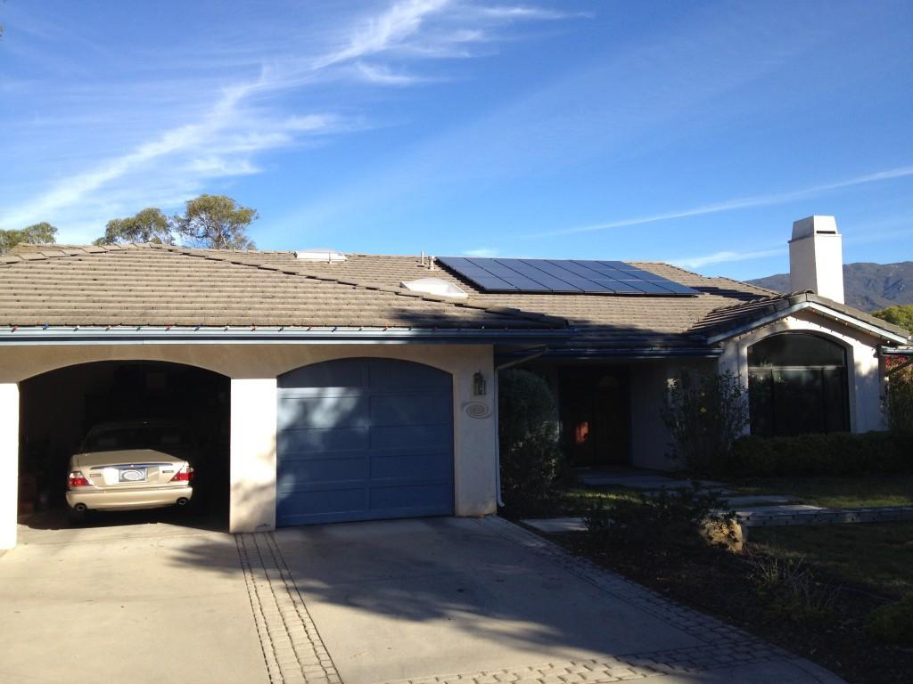 A solar array installation in Goleta, California.