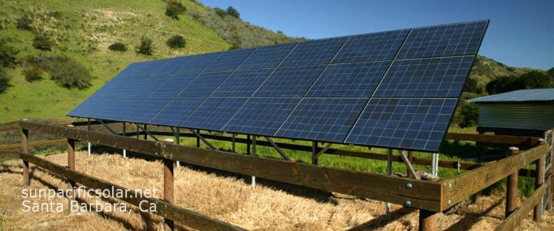 An agricultural solar array.