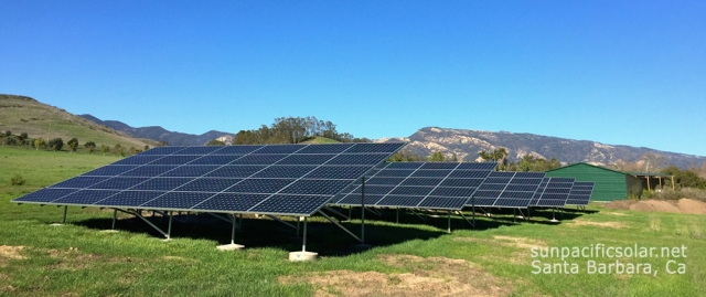 49kW SunPower installation at Bragg Farms, Winchester Canyon, Goleta California.