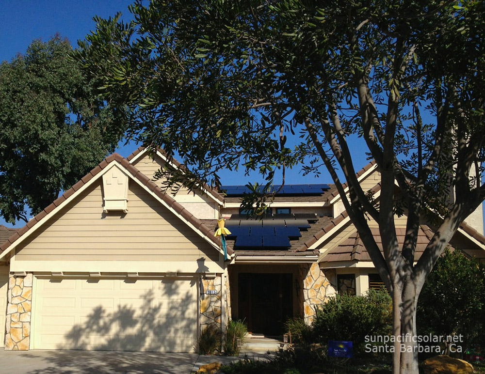 SunPower all black installation utilizing available space, in Oxnard.