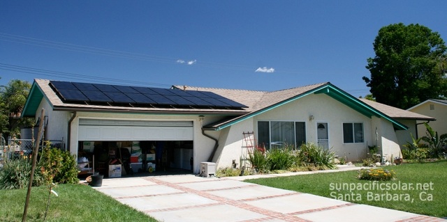 4.5kW SunPower all black panels in Southern California.