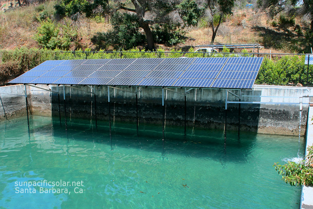 6.44kW SunPower panels generating electricity for a residence in Santa Barbara. To heat your pool or home water system using solar, contact Mike McRae at http://www.macsolar.com