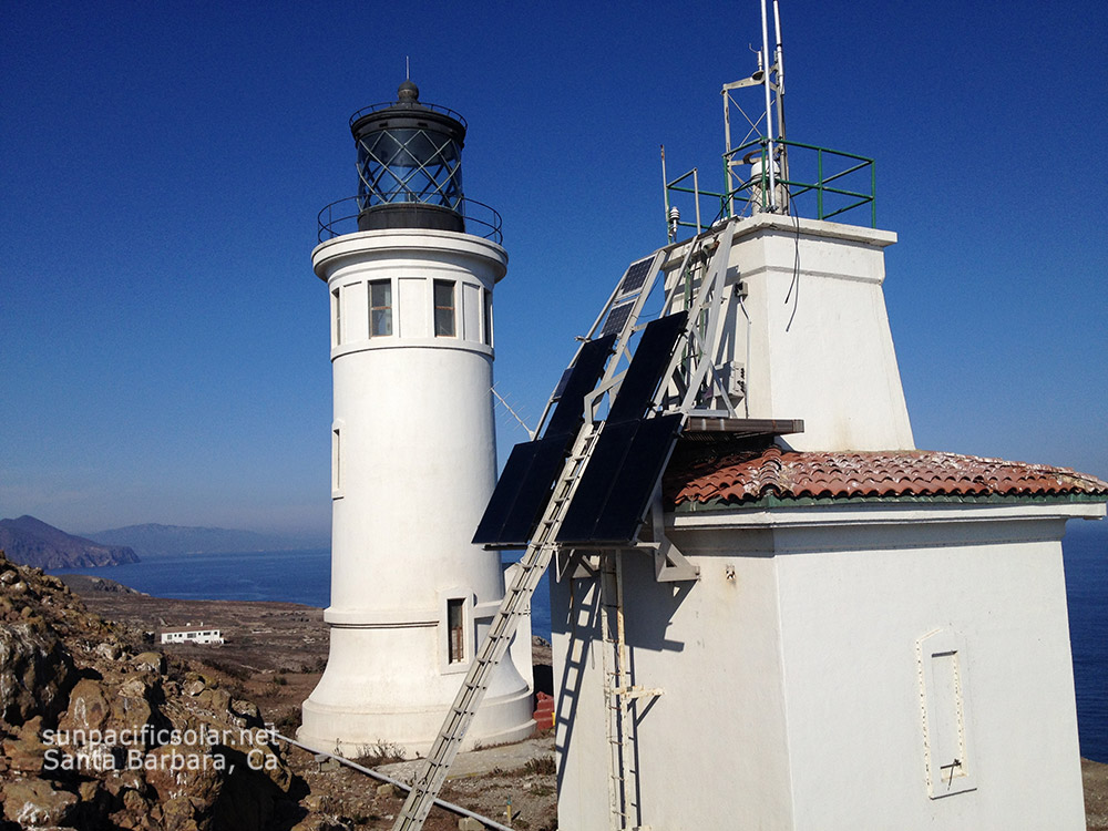 1.5kW SunPower all black on historic foghorn building on Anacapa Island, Channel Islands National Park.
