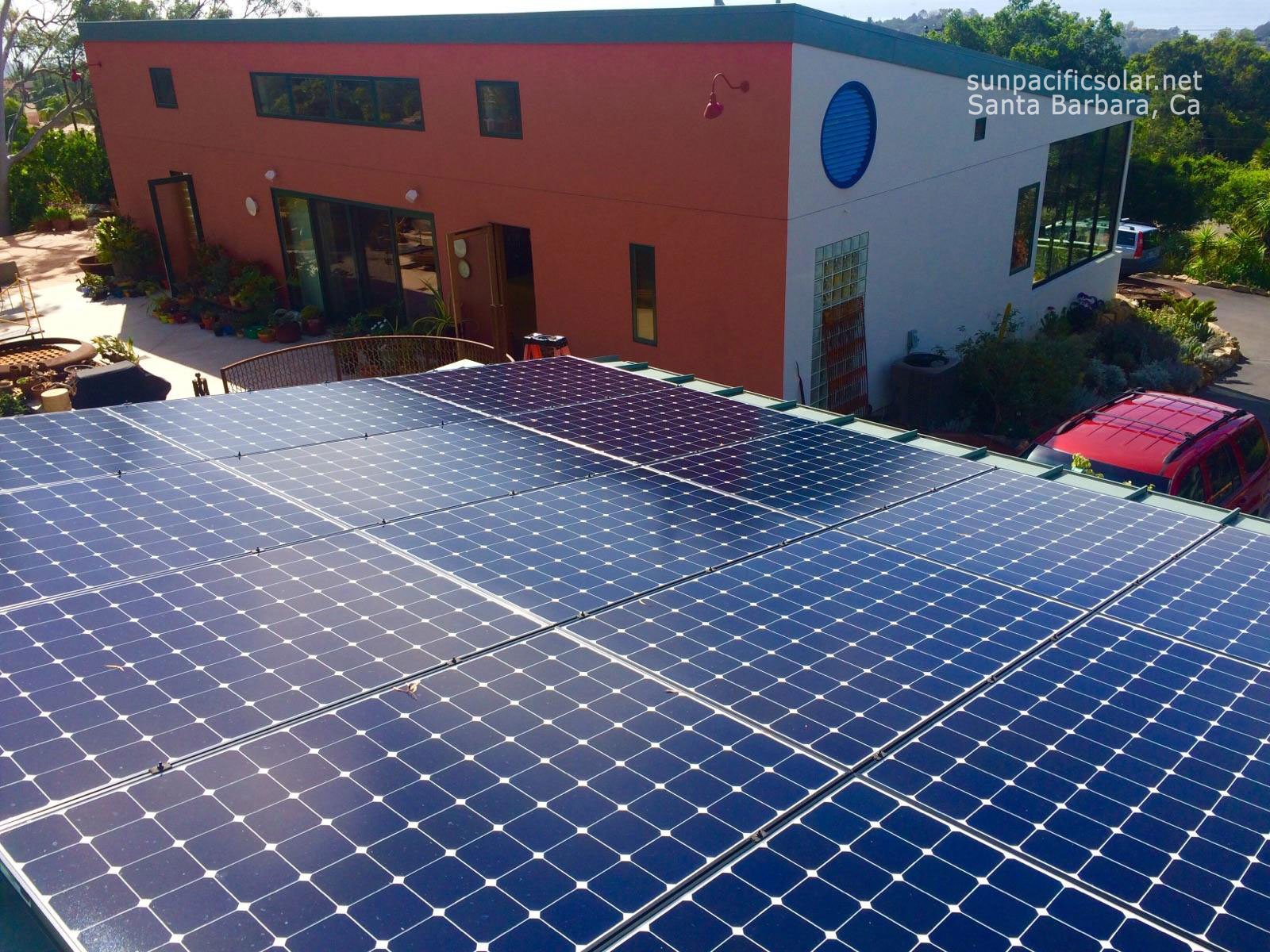 5.1kW SunPower installation on a standing seam metal roof in Santa Barbara.