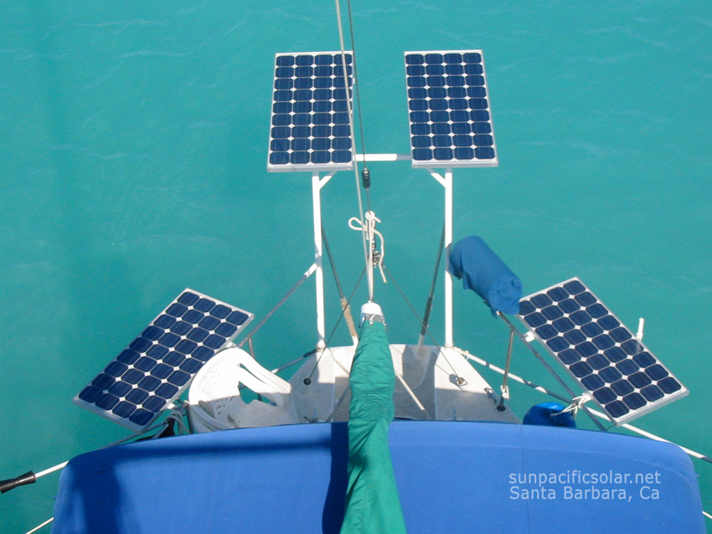 Custom boat solar array.