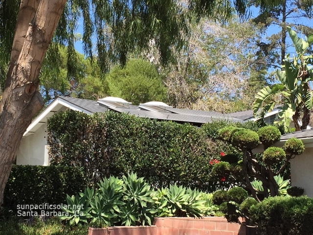 Small SunPower array on a comp shingle roof in Ventura.