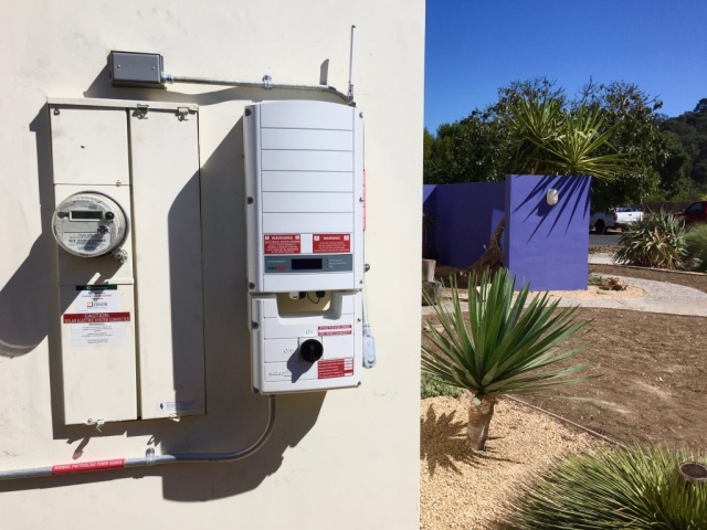Sun Pacific Solar inverter installation in Santa Barbara. Commercial, agricultural, residential. Solar Energy, Solar Power, Solar Panels, Solar Electric, Photovoltaic, Renewable Energy, Clean Energy, Green Energy, Solar Installation, Sustainable Energy, Sustainability, Alternative Energy, Energy, Energy Management, Energy Conservation, Solar PV, Sustainable Development, Solar Thermal, Energy Efficiency, Wind, Green Building, Clean Technology, Clean Tech, Energy Audits, Cleantech, Custom installations, comp roof solar installations, tile roof solar installations, flat roof solar installations, flat membrane roof solar installations, solar panel installations, standing seam metal roof solar installations, inverters, battery backup, pole mount solar installations, well pumps, ground mount solar installations, grid-tied solar, off-grid solar, grid tied solar, off grid solar, agricultural pumping, Hollister Ranch, Pismo Beach Santa Barbara, Ojai, Hope Ranch, San Luis Obispo, Ventura, Santa Ynez, Gaviota, Goleta, Montecito, Santa Barbara County, Tri-County area, Tri-County, Southern California, Carpinteria, Summerland, Buellton, Padaro Lane, Santa Maria, Lompoc