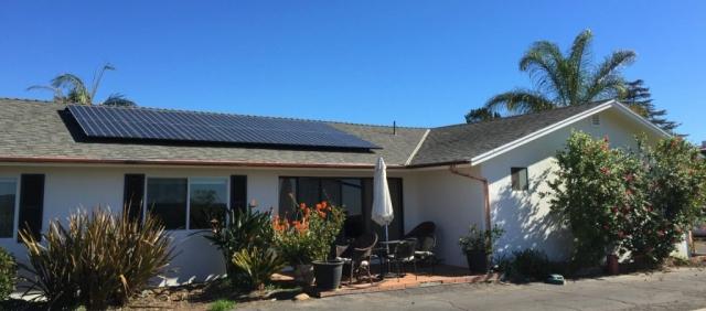 Small SunPower Array On Comp Shingle Roof In Santa Barbara.