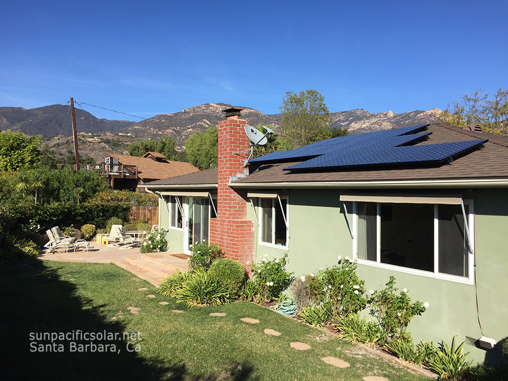 4.8kW on a Santa Barbara roof top.
