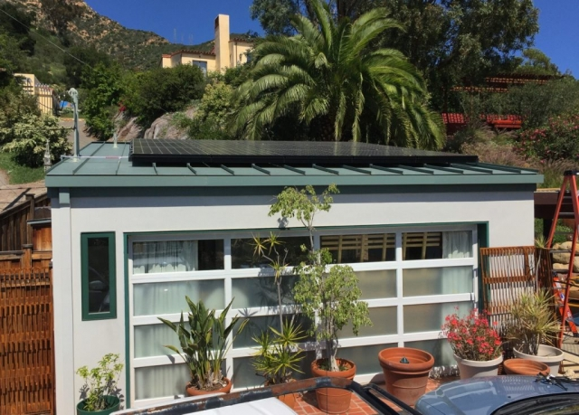 Sun Pacific Solar residential solar installation in Santa Barbara California on standing seam metal roof. Local electrical contractor solar installations. Commercial, residential, agricultural. Solar Energy, Solar Power, Solar Panels, Solar Electric, Photovoltaic, Renewable Energy, Clean Energy, Green Energy, Solar Installation, Sustainable Energy, Sustainability, Alternative Energy, Energy, Energy Management, Energy Conservation, Solar PV, Sustainable Development, Solar Thermal, Energy Efficiency, Wind, Green Building, Clean Technology, Clean Tech, Energy Audits, Cleantech, Custom installations, comp roof solar installations, tile roof solar installations, flat roof solar installations, flat membrane roof solar installations, solar panel installations, standing seam metal roof solar installations, inverters, battery backup, pole mount solar installations, well pumps, ground mount solar installations, grid-tied solar, off-grid solar, grid tied solar, off grid solar, agricultural pumping, Hollister Ranch, Pismo Beach Santa Barbara, Ojai, Hope Ranch, San Luis Obispo, Ventura, Santa Ynez, Gaviota, Goleta, Montecito, Santa Barbara County, Tri-County area, Tri-County, Southern California, Carpinteria, Summerland, Buellton, Padaro Lane, Santa Maria, Lompoc