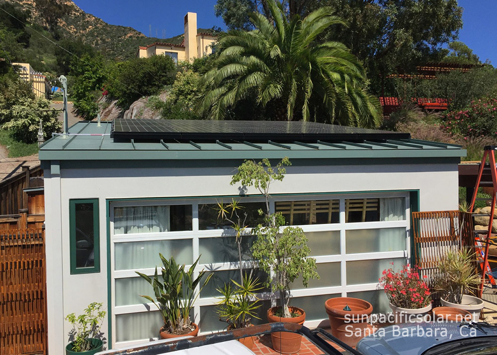 5.1kW SunPower installation on a standing seam metal roof in Santa Barbara County.