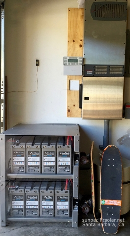 Battery backup for small agricultural farm in Ojai, California.