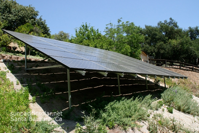 10.8kW ground mount array in Ojai, California.
