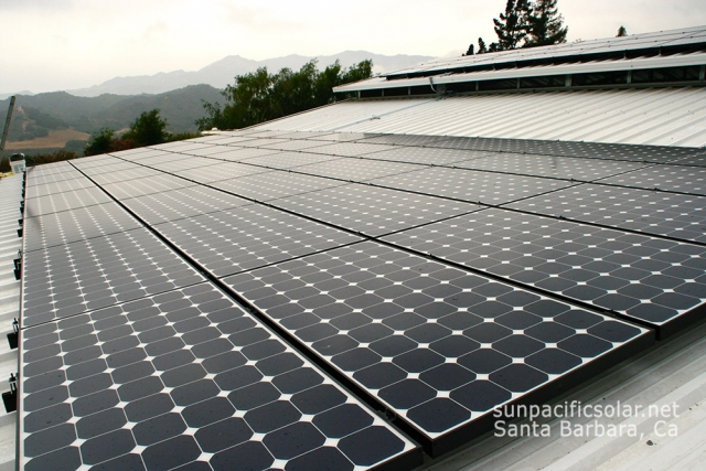 16.56kW SunPower installation on a barn in Oak View, California.