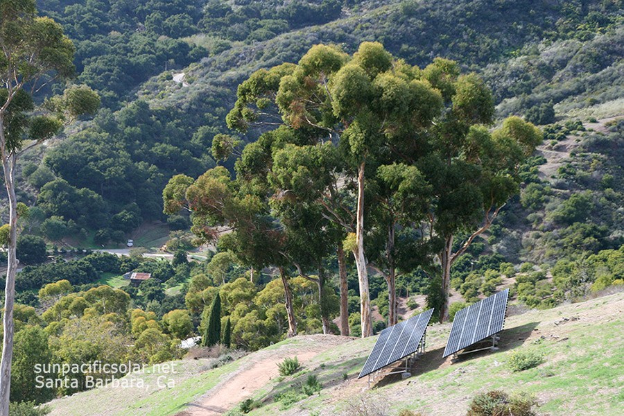 14.7kW SunPower ground mount in Santa Barbara County.