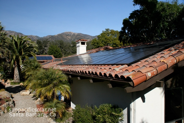 16.2kW SunPower all black on a tile roof in Santa Barbara.