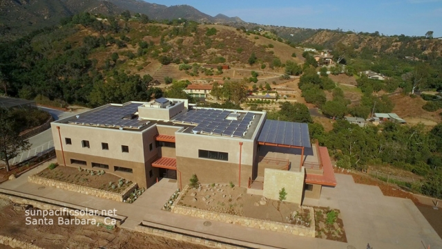 39kW SunPower and Lumos array at the Santa Barbara Botanic Gardens.