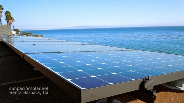 10.2kW SunPower array overlooking the ocean in Pismo Beach, California.