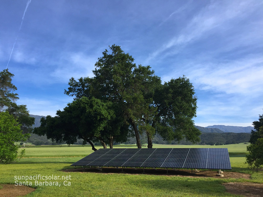 13.8kW SunPower ground mount in Ojai, California.