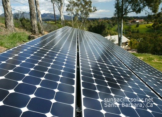 A 14.7kW SunPower ground mount system powering a home in Las Varas Canyon.
