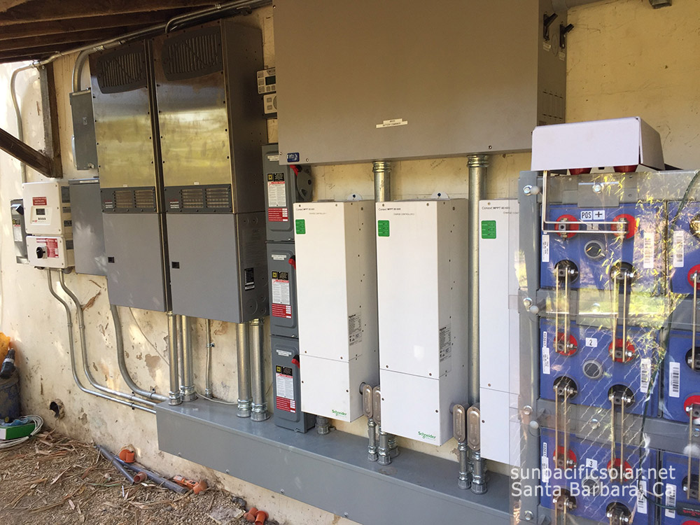 A residential grid-tied battery backup system with the capability of providing 80hrs of power in case of an emergency.