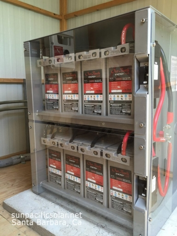 Grid-tied battery backup system for a house in Ventura, California.