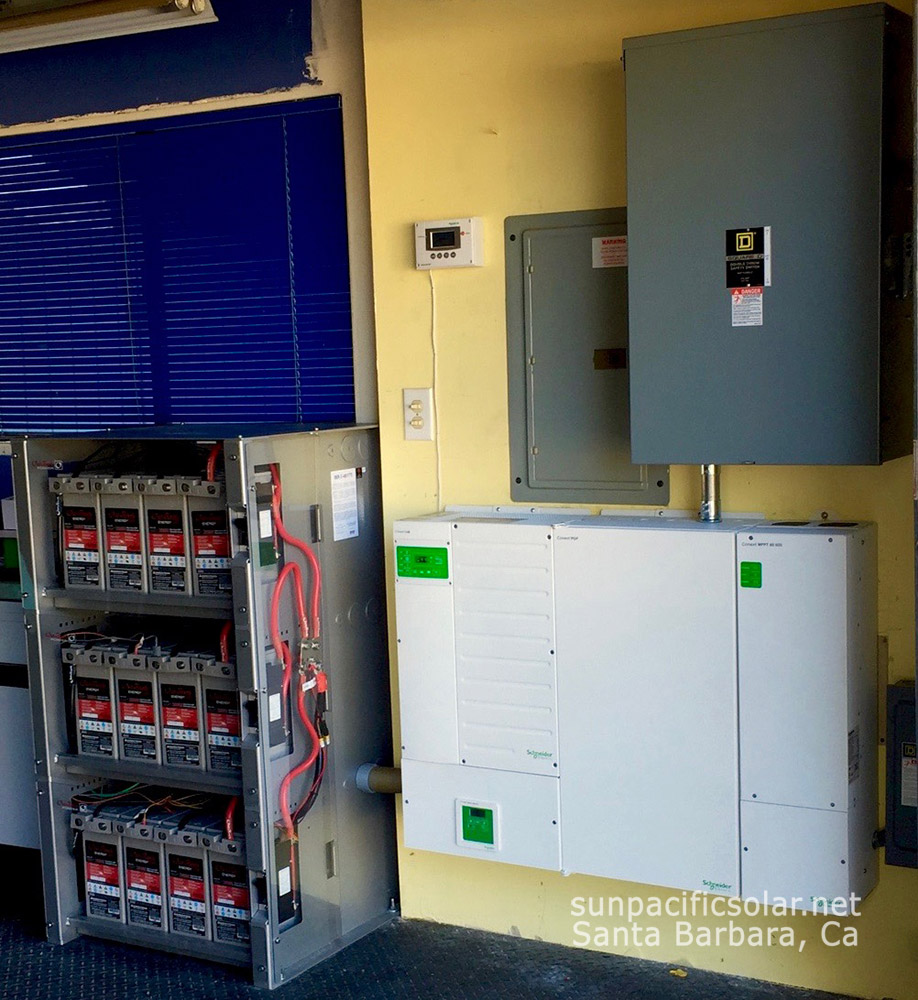 6.8kW AC whole house residential battery backup system with 12.5kWh's battery storage, and a manual transfer switch to the battery backup.