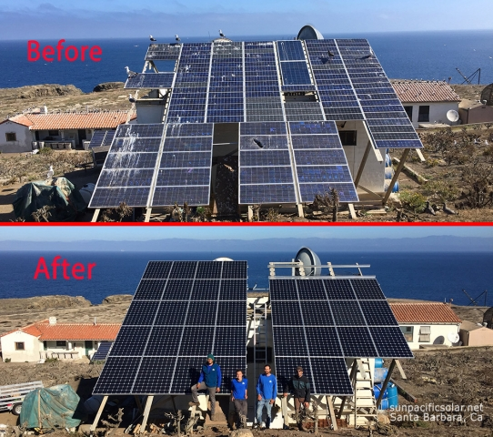 11.7kW SunPower array upgrade on Anacapa Island, Channel Islands National Park.