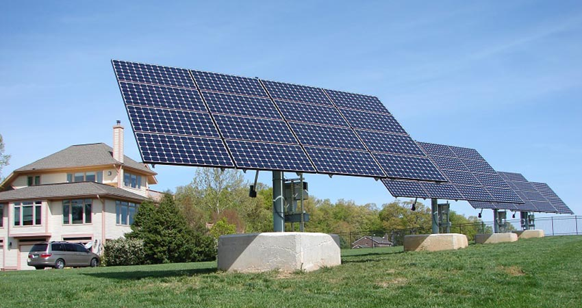 A dual axis solar tracker system