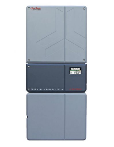 OutBack SkyBox inverter with balance of systems and backup power.