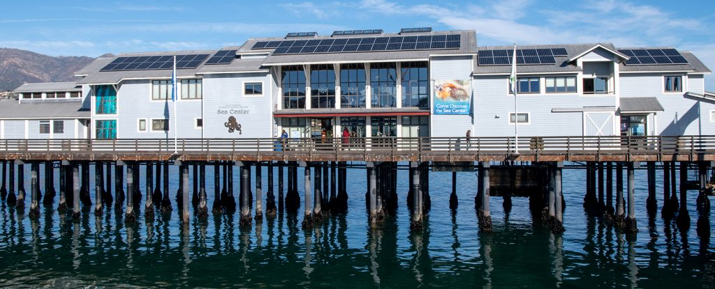 Sun Pacific Solar Electric solar installation at the Santa Barbara Natural History Museum Sea Center in a marine environment using IEC 61701 tested panels.